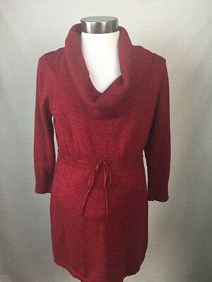 Oh Baby Maternity Sweater by Motherhood Red Size Medium Cowl Neck Tunic NWT F2