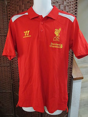 Warrior Liverpool FC Polo Shirt jersey Mens Large L.F.C. Soccer Football