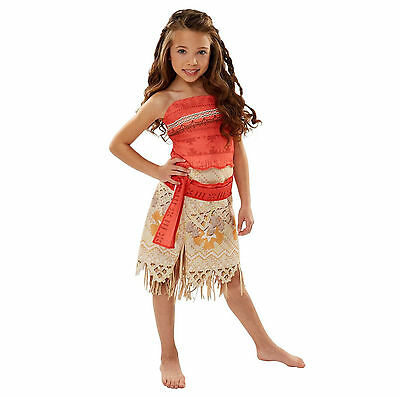 Disney Moana Adventure Dress - Kids 4-6x Costume New with Tags Halloween Costume