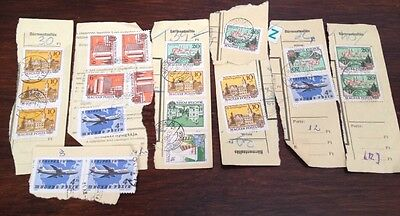 Assorted Stamps from Hungary Magyar - unsoaked on paper
