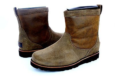 2c892a27397 UGG HENDREN BOMBER Tl Waterproof Chestnut Leather Boots Mens Size 9 Us
