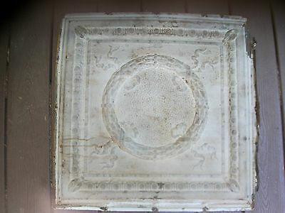 "1 - 24""x 24"" 1890s Old TIN CEILING TILE Vintage Reclaimed Salvage Re Purpose Art"