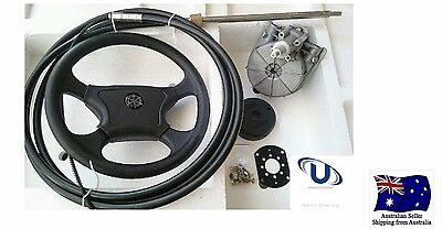 NEW  5.18m~17FT UNIVERSAL BOAT STEERING WHEEL SYSTEM QUICK CONNECT STEERING KIT