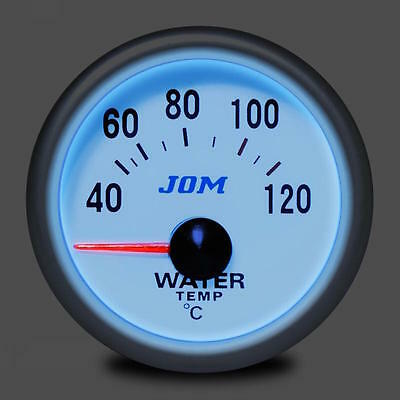 Kit Gauge Ø52 Gauge Racing Grey Lighting Blue Temperature Water 40°C - 120 °C