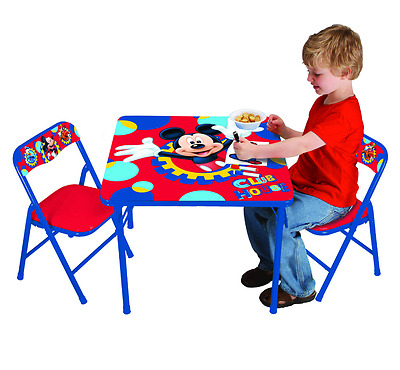 Disney Mickey Mouse Playground 2 Padded Chair Steel Pals Kids Activity Table Set