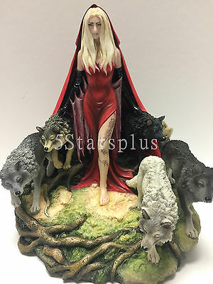 Howl By Ruth Thompson Witch and Wolfs Statue Sculpture Figurine NEW