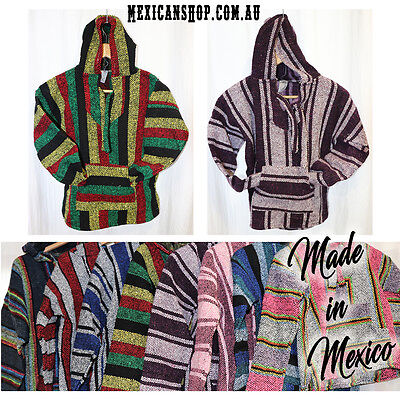 Mexican Baja Hoodie, Surfer, Pullover, Poncho, Hippie, Jerga, Kid's size 4