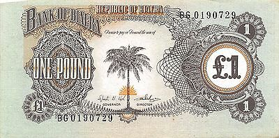 Biafra 1 Pound ND. 1968 P 5a Series BG Uncirculated Banknote MX30W