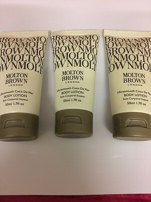 Molton Brown.ultrasmooth  Coco De Mer Body Lotion, 3 X 50Ml