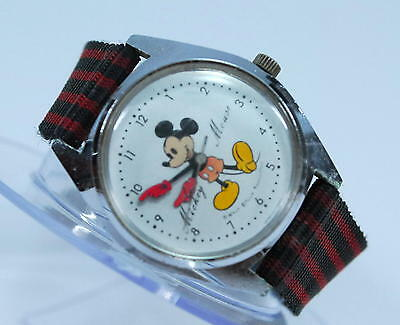 RARE Vintage Seiko 5000-7000 Mickey Mouse Hand Watch from Japan