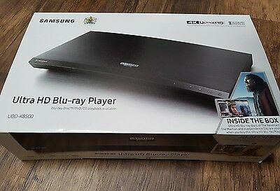 Brand New Samsung UBD-K8500 4K UHD Blu-Ray Player + 3 UHD films