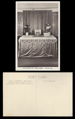 Extrem Selten - White Star Line RMS Olympic - Altar an Bord - ca. 1920