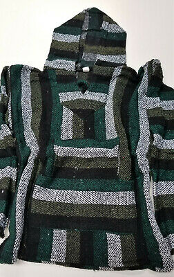 Mexican Baja Hoodie, Surfer, Pullover, Poncho, Hippie, Jerga, Kid's size 10