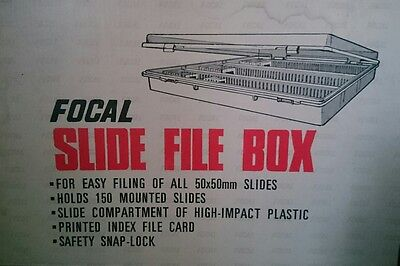 Focal Slide File Box Holds 150 slides New Vintage