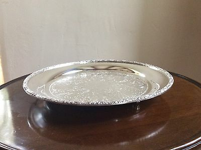 Silver Plated on Copper Sheffield Made Tray 700grams