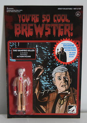 Fright Night Peter Vincent Vampire Killer Figure & Signed Poster