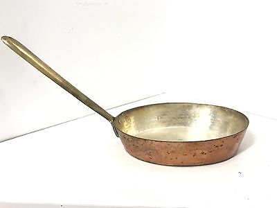 Antique Vintage Copper Brass Frying Pan