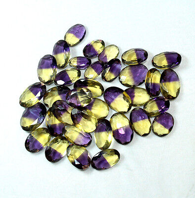 535 Cts 35 Pec  Wholesale Lot Loose Ametrine FACETED Cut Oval Shape Gemstone