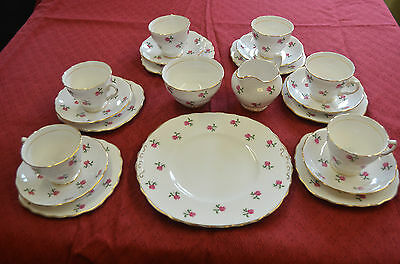 Vintage 21 piece Colclough Ditsy Rose High Tea Sandwich Set Fragrance 7433
