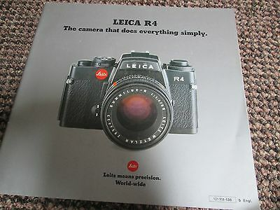 The Leica R4 Camera Vintage Leitz Glossy Illustrated Trade Catalogue B1