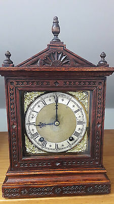ANTIQUE (c1900) MANTEL CLOCK by WINTERHALDER & HOFMEIER-  recently serviced.