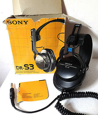 Cuffie SONY DR-S3 Stereo Headphones Vintage Japan BOXED