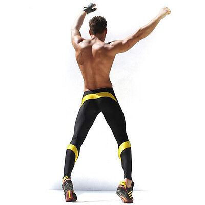 Men Workout Fitness Compression Legging Pants Bottom MMA Crossfit Weight Train