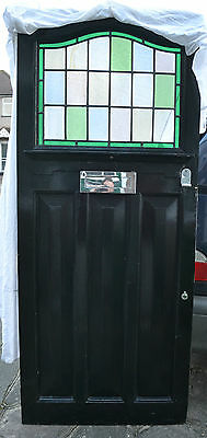 Leaded light stained glass front door 1920s/1930s. R488. NATIONWIDE DELIVERY!!!