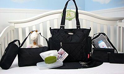 New 9 Piece Baby Diaper Tote Bag Set Multiple Pockets Tribeca SoHo Collection 5.