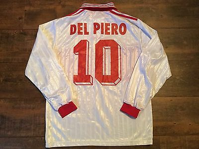 2003 Del Piero L/s Adidas Match Worn Football Shirt Adults M Maglia