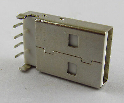 100Pcs USB Type 4pin A male socket Connector PCB Socket Right Angle 90 Degreee