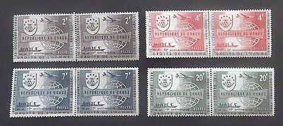 Congo-1963-15th Anniv of UN Human Rights Declaration-Full set of Joined pair-MNH