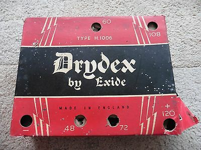 Drydex By Exide,  H.1006 Battery, For Display, Vintage Radio Battery