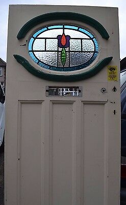 Leaded light stained glass front door. 1920s/30s. R529. DELIVERY!!!
