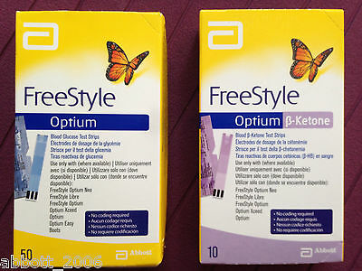 Freestyle Plus Blood Glucose & B-Ketone Test Strips