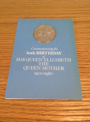 UK British 1900 - 1980 Queen Mother Commemorative Cu-Ni Crown Coin sealed card