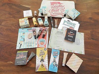 Benefit bundle, 21 samples and travel size products + Benefit cosmetic bag