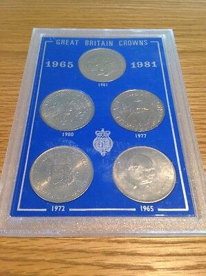 1965 - 1981 Great Britain Crowns