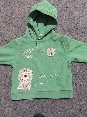 Baby Boys Long Sleeved Hooded Top Size 00 GUC