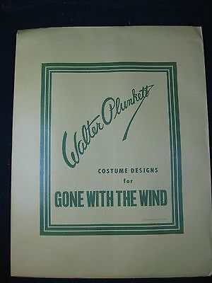 "Walter Plunkett signed limited edition ""Gone With The Wind"" Costume Portfolio"