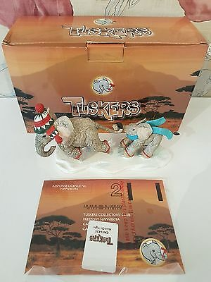 Country Artists Tuskers - Hold on Tight - CA91435 TUSKERS ELEPHANT - With box