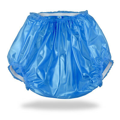 Adult Baby Plastic Pants Nappy Diaper Cover ABDL DDLG Sissy Blue PVC Windelhose