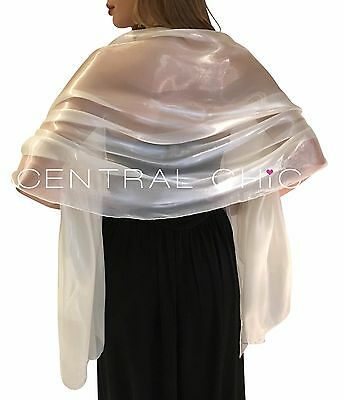 Ivory Silky Bridal Bridesmaid Wedding Prom Shawl Stole Wrap Pashmina