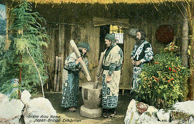 postcard In the Ainu Home Japan-British Exhibition of 1910