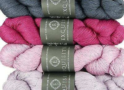 West Yorkshire Spinners WYS Exquisite Lace 100g VARIOUS SHADES wool/silk