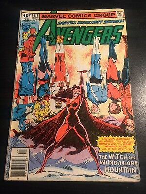 Avengers#187 Awesome Condition 5.5(1979) Scarlett Witch Possession, Byrne Art!!
