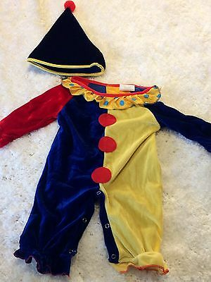 Baby CLOWN Circus Costume size 0-1 Dress Up Party Halloween 6-12 months *NEW*