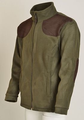 Percussion Fleece Hunting Jacket In Khaki Green with Percussion Motif