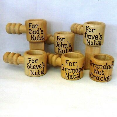 Personalised With Any Name Wooden Nut Crackers Quality Birthday Funny Gift