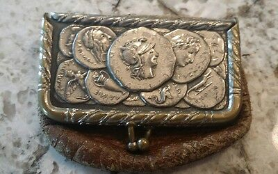Antique Leather Advertising Coin Purse Zook - Edie Lumber Co. Lumber & Coal